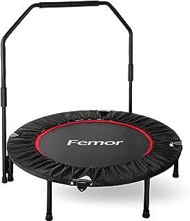 femor Fitness-Trampolin, Trampolin faltbar, Ø101.6cm, 3-Fach höhenverstellbarer..