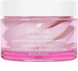 boscia Tsubaki Swirl – Natural Camellia Oil Cream and Gel Face Moisturizer for Combo to Dry Skin, 2 fl oz