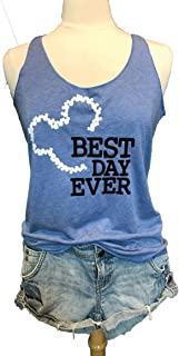 Mickey Mouse. Disney. Best Day Ever. Bride Tank. Women's Eco Tri-Blend Tanks. Women Clothing. Adult Disney Tank. Disney Best Day Ever.