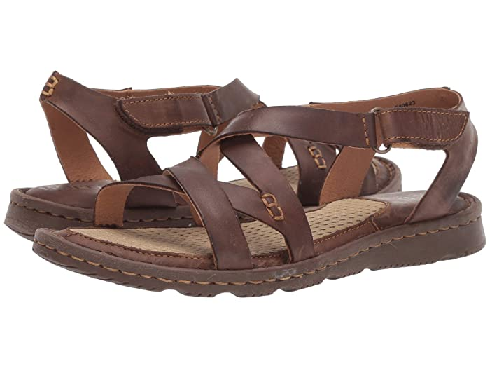 Born  Trinidad (Dark Brown Full Grain Leather) Womens Sandals