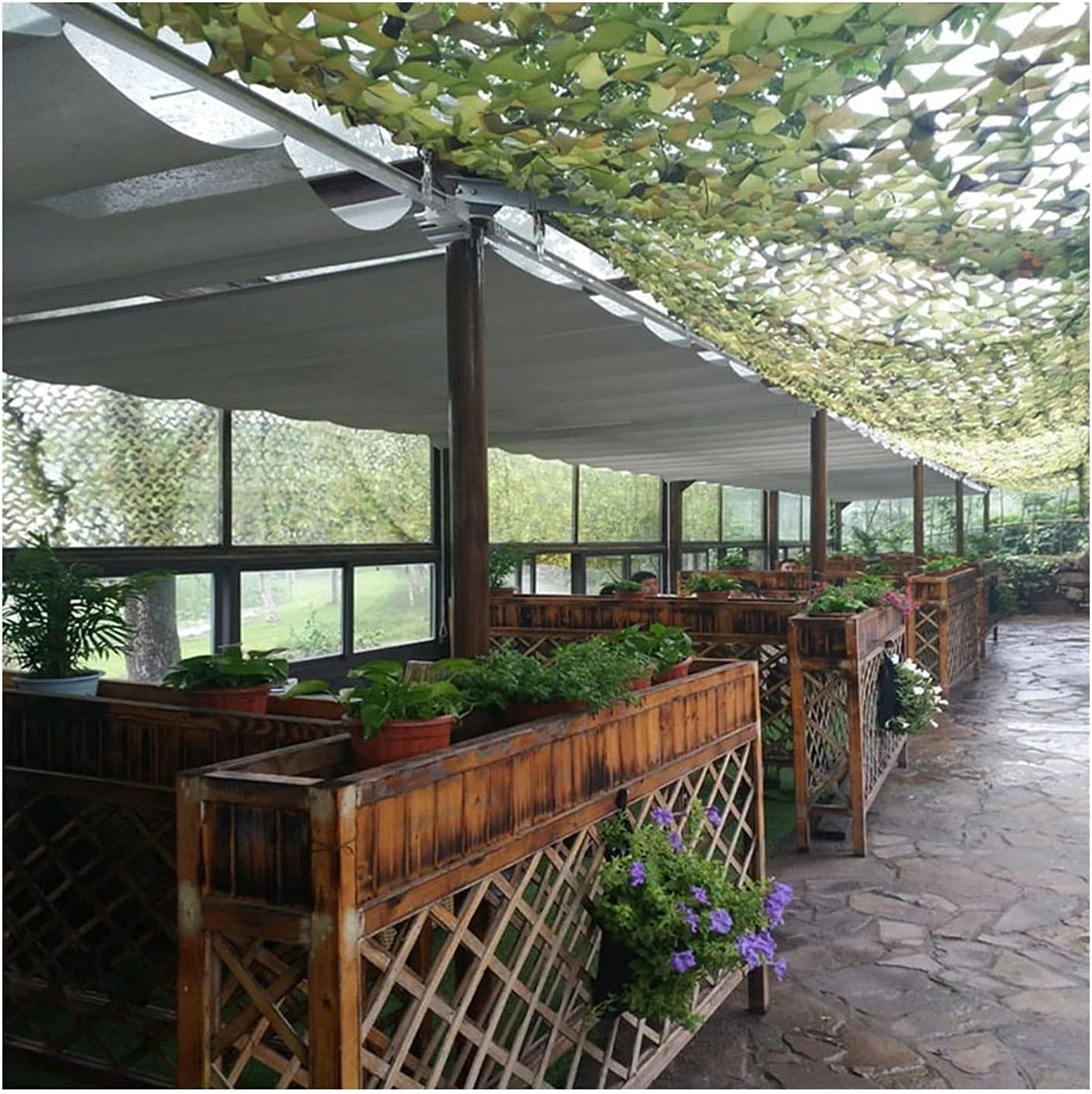 KANULAN Retractable pergola Canopy Outdoor Many popular brands Patio Sha Over item handling