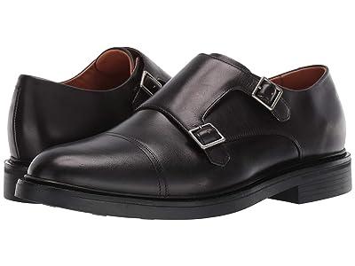 Polo Ralph Lauren Asher Double Monk Strap (Black Calf Leather) Men