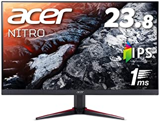 Acer ゲーミングモニター Nitro 23.8インチ VG240Ybmiifx IPS 1ms(VRB) 75Hz FPS向き フルHD FreeSync フレームレス HDMIx2 スピーカー内蔵 ブルーライト軽減