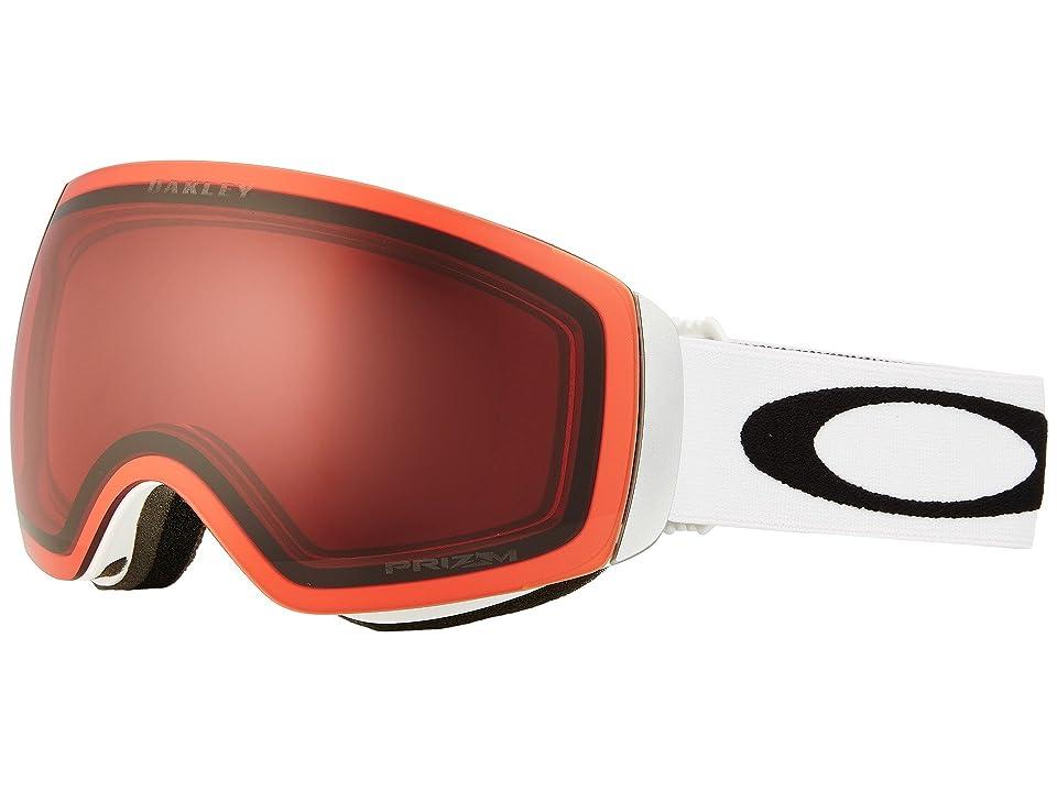 Oakley Flight Deck XM (atte White/Prizm Rose) Sport Sunglasses