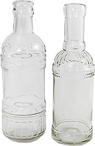 Annastore 12 Stück Dekoflaschen H 20,5 cm, ideal als Vase und Kerzenständer