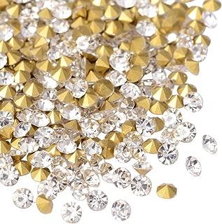 ARRICRAFT 1 Bag 720pcs Back Plated Grade A Diamond Glass Pointed Rhinestone Crystal for DIY Jewelry