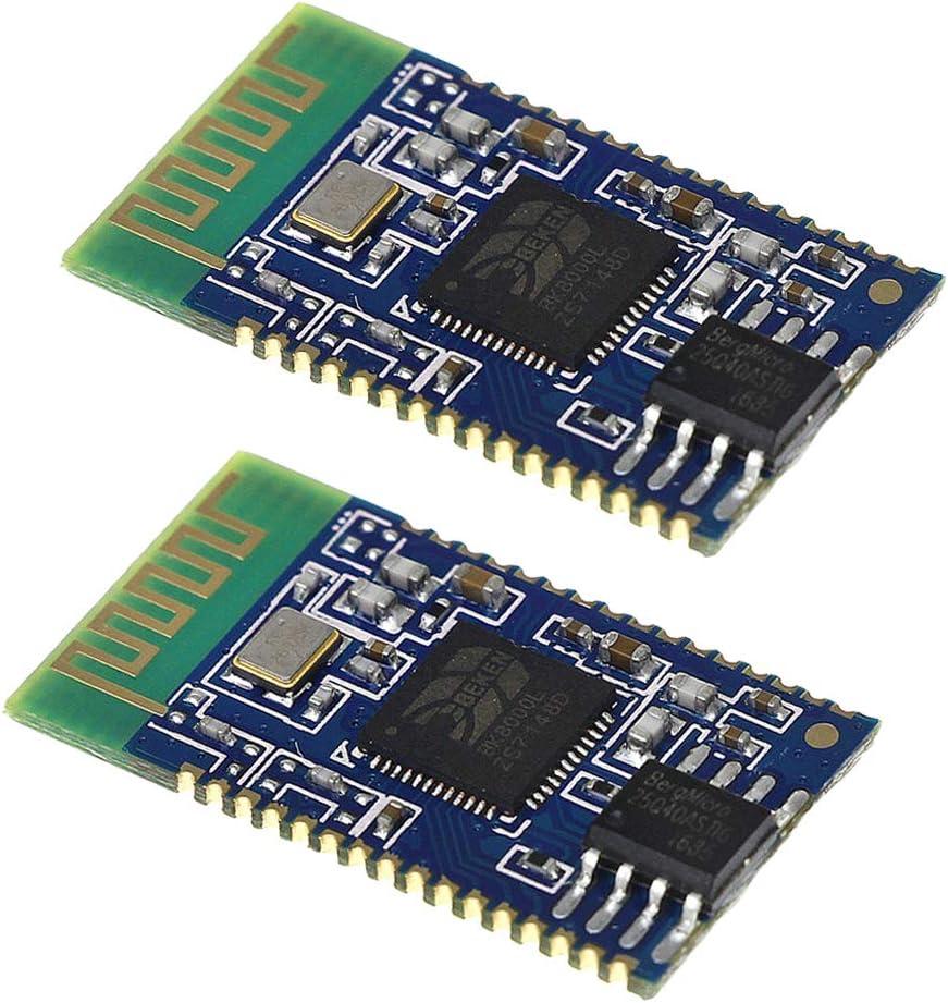 HiLetgo 2pcs BK8000L Wireless Bluetooth Stereo Audio Module Transmission AT Commands SPP Bluetooth Speaker Amplifier DIY
