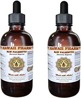 Saw Palmetto Liquid Extract, Organic Saw Palmetto (Serenoa Repens) Tincture, Herbal Supplement, Hawaii Pharm, Made in USA,...