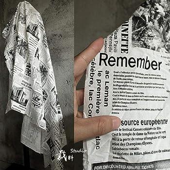 JKLAQ Telas por Metros para Vestidos- Algodón Periódico Graffiti Diseño Inglés Tela Estampado Estampado Tela Algodón: Amazon.es: Hogar
