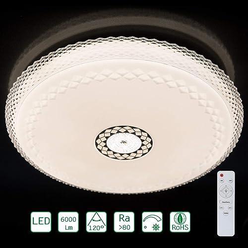 LXBS450 Plafonnier rond à LED avec télécomhommede Blanc froid 6000 lm
