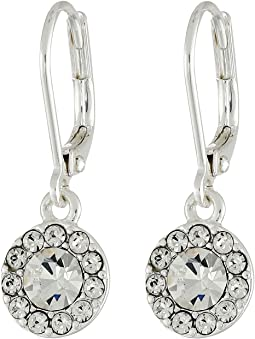 LAUREN Ralph Lauren Small Round Pave Drop Earrings