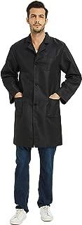 VOGRYE Professional Lab Coat for Women Men Long Sleeve, White, Unisex XXS-4XL