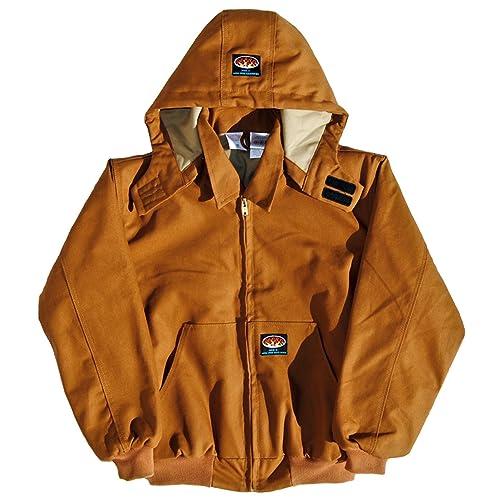 4b823046b5b6 Rasco FR Mens Rasco Flame Resistant Hooded Jacket XL REG Brown