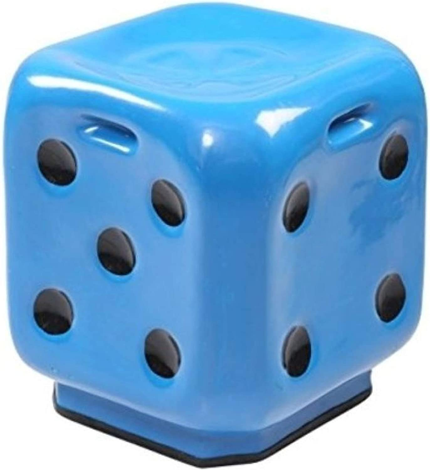 Stool DICE Bule Premium Fiber Material Unbreakable Durable Dice Sitting Stool (Fiber) for Living Room Home Office Outdoor Stool with Anti-Skid Rubber  Stool with Sturdy Compact and Stylish.