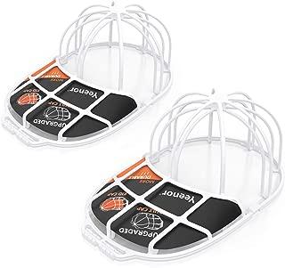 Upgraded 2-Pack Hat Washer,Baseball Cap Washer,Cap Washer,Baseball Hat Cleaner Protector,Ball Cap Washing Frame Cage Hat Washing Holder,Ball Cap Sport Hat Visors Shaper/Organizer for Washing Machine