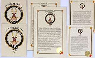 Rose of Clan Rose - Scottish Last Name History and Clan Crest Print Set (2 Pack)