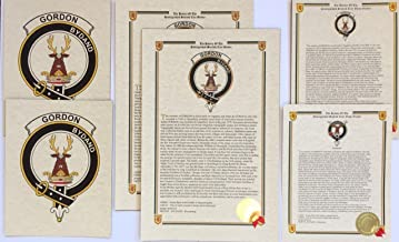 Nicol of Clan Nicolson - Scottish Last Name History and Clan Crest Print Set (2 Pack)