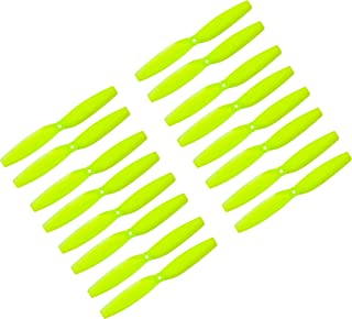 Genuine Gemfan 65mm (2.55-inch, 1.5 mm Hub) Propellers by RAYCorp. 16 Pieces(8CW, 8CCW) Yellow - Polycarbonate 2.55-inch Micro Quadcopters & Multirotors Props + RAYCorp Battery Strap