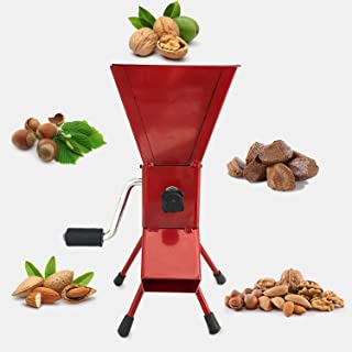 Hand Crank Nutcracker Tool for Pecans (soft shell), Almonds, Hazelnuts, Filbert Nuts, Brazil Nuts, Pistachios and English Walnuts. All Steel Nut Cracker Machine - Nutcracker Tool (RED)