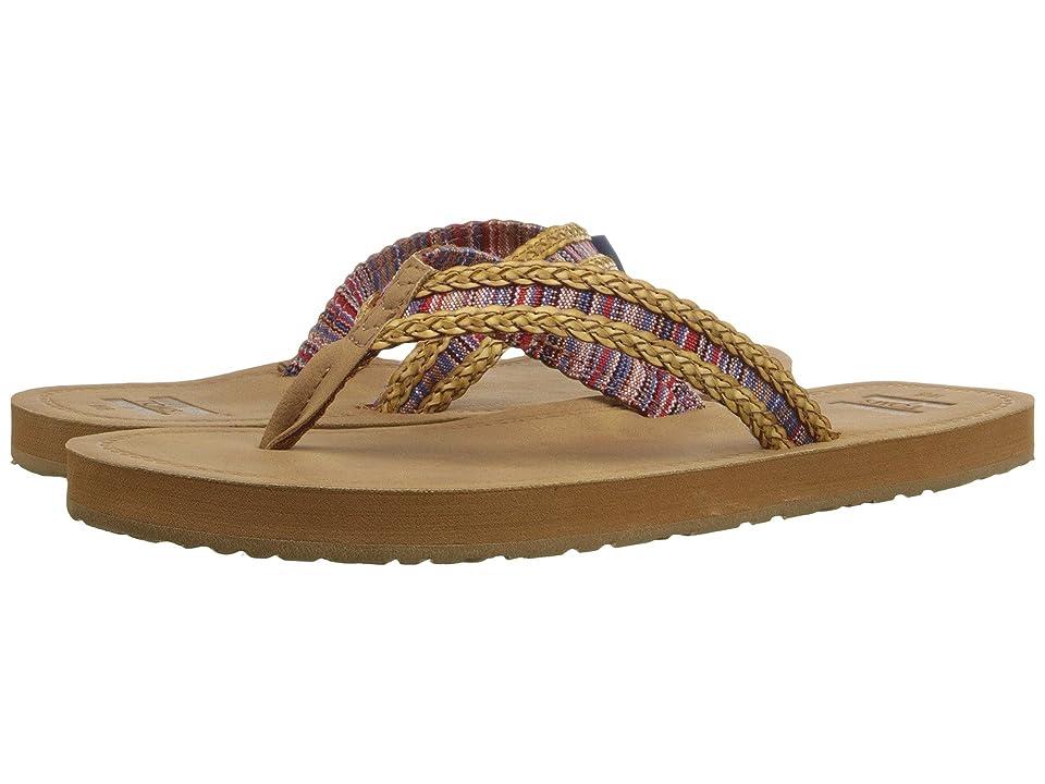 TOMS Solana Flip Flop (Sand/Pink Mix Textile) Women