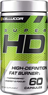 Cellucor SuperHD Thermogenic Fat Burner & Energy Booster for Men & Women, Antioxidant & Weight Loss Supplement with Nootropic Focus, 60 Capsules
