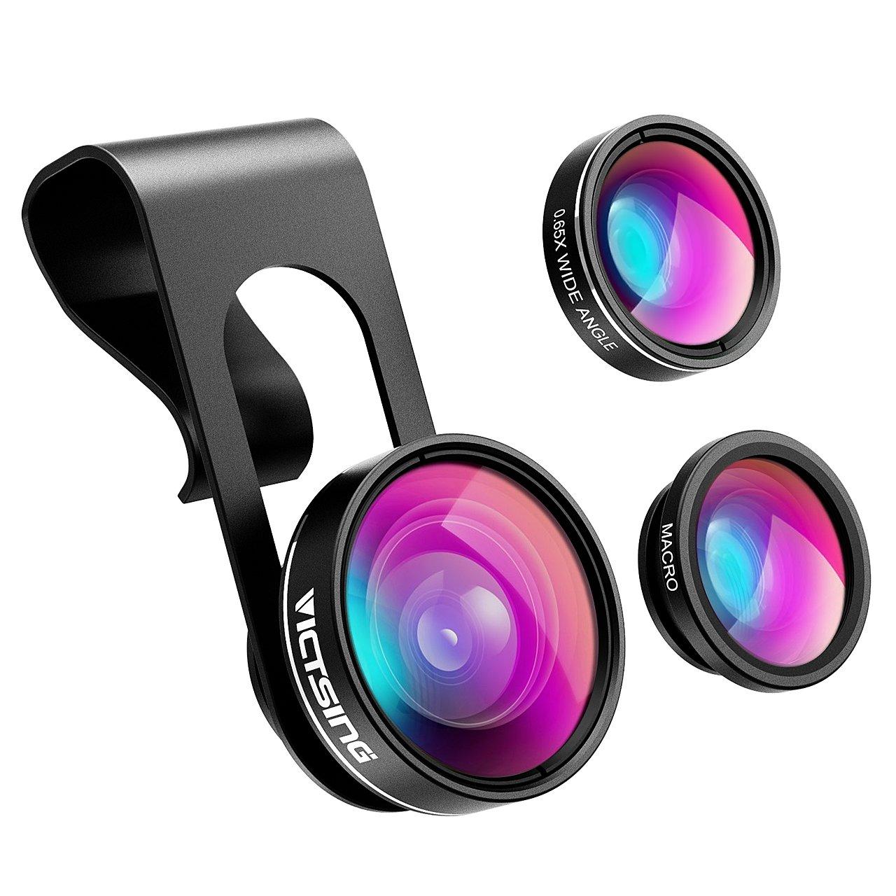 VicTsing - Objetivo 3 en 1 para Smartphone con Lente de cámara de ...