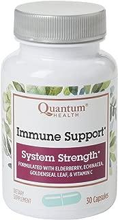 Quantum Health Immune Support Elderberry Echinacea Vitamin C 30 Capsules (Pack of 3)