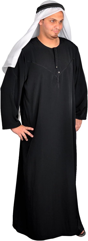 wholesape barato Disfraz de jeque jeque jeque árabe tres piezas Sheik traje, traje del Cochenaval - disfraz de indio, colour negro  barato y de alta calidad