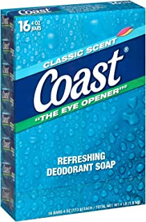 Sponsored Ad – Coast Refreshing Deodorant Soap, Classic Scent, 4 Ounce, 16 Count