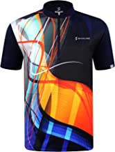 SAVALINO Men's Bowling Sublimation Printed Jersey, Material Wicks Sweat & Dries Fast
