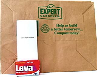Expert Gardener 30 Gallon Paper Lawn Leaf Trash Bags(10 Bags), Lava Heavy Duty Gardening Hand Soap Bundle for Yard Garden Clean Up and Cleaning Hands after Yard Work
