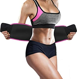 Perfotek Waist Trimmer Belt, Sweat Wrap, Tummy Toner, Low Back and Lumbar Support with..
