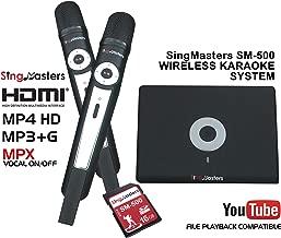 SingMasters Magic Sing Arabic Karaoke Machine Player,843 Arabic Songs,Dual Wireless Microphones,YouTube Compatible,HDMI,Song Recording,Arabic Karaoke Machine
