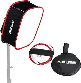 Kamerar Dfuse Collapsible Softbox for Aputure Amaran 528/672 LED Light Panels: Foldable, Portable Diffuser, Strap Attachment, Camera Photo Film Video