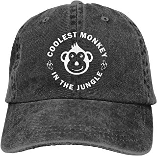 Coolest Monkey Adult Personalize Cowboy Sun Hat Adjustable Baseball Cap