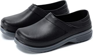 DXINZHI Unisex Non Slip Food Service Work Sneaker |Professional Oil Water Resistant Nursing Chef Shoe | Men Black Chef Sho...