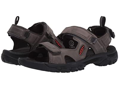 KEEN Targhee III Open Toe Sandal (Grey/Black) Men