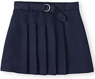 Wonder Nation Girls School Uniform Pleated Belted Scooter Skirt