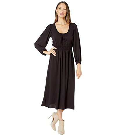 Rachel Pally Pucker Rayon Edith Dress (Faded Black) Women