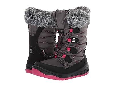 Kamik Kids Novina (Little Kid) (Charcoal/Bright Rose) Girls Shoes
