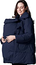 Sweet Mommy Maternity and Babywearing Down Duffle Coat with Babywearing Pouch