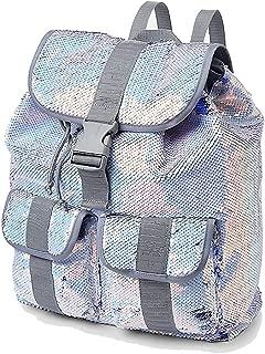 Multi Silver Flip Sequin Rucksack Backpack