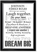 IPIC - Family Rules - Claccis Version. Personalized Canvas Prints Gift with Fmaily Names on, Perfect Love Gift for Family and Self.