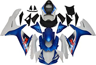 NT FAIRING Blue White Injection Mold Fairings Fit for Suzuki 2011-2015 GSXR 600 750 K11 GSX-R600 2011 2012 2013 2014 2015 Aftermarket Painted Kit ABS Plastic Set Motorcycle Bodywork