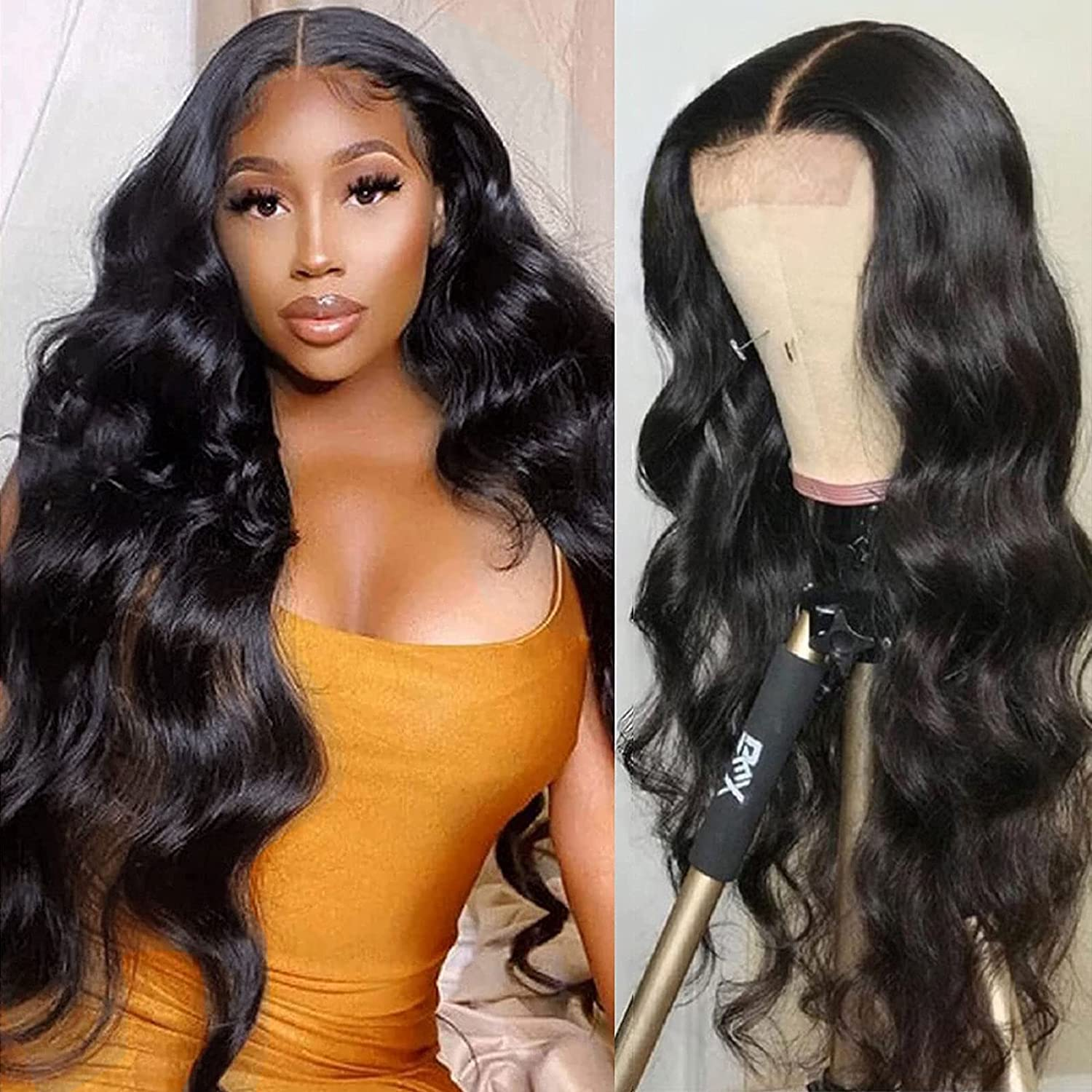 Gifts Lace Front Wigs Human Hair Pre Large-scale sale Wave Plucked Body Closur 4x4