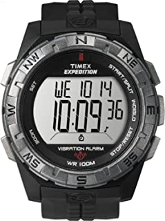 Men's T49851 Expedition Vibration Alarm Black Resin Strap Watch