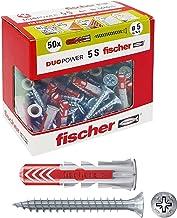 Fischer – Pluggen Duopower met schroef, grijs, 544015