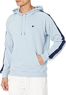 Starter Mens Striped Tape Pullover Hoodie