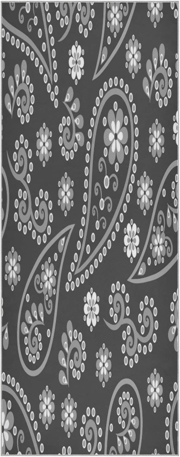 Popular overseas 73 Inch Yoga Mat Towel Store Paisley Foldable Indian Non Cucumbe Slip