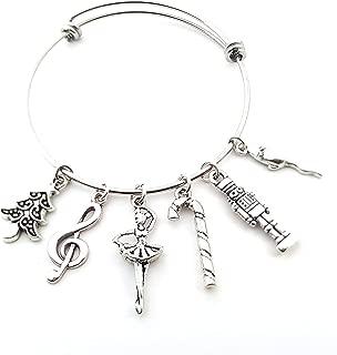 Nutcracker Silver Bangle - Christmas Charm Bracelet - Gift for her